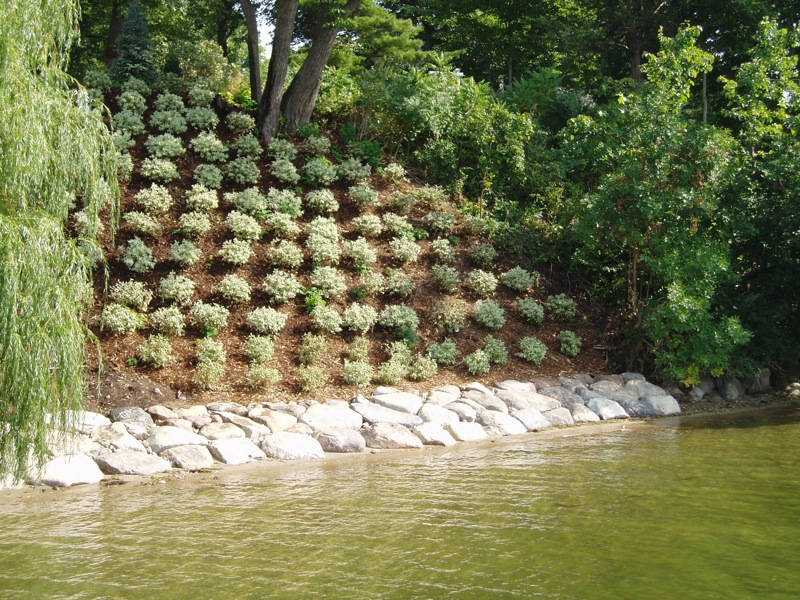 Landscaping services mound minnetrista shorewood for Hillside rock garden designs